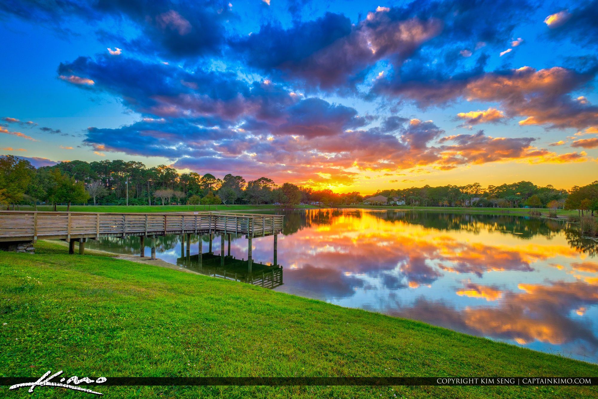 Happy Colors Over Coconut Park in Loxahatchee Florida
