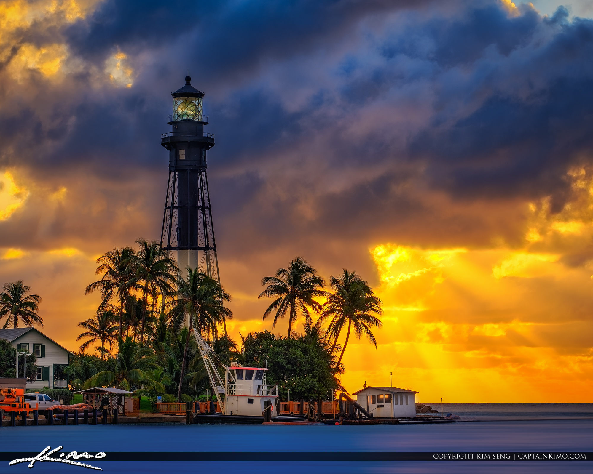 Hillsboro Inlet Lighthouse Pompano Beach Sunrise
