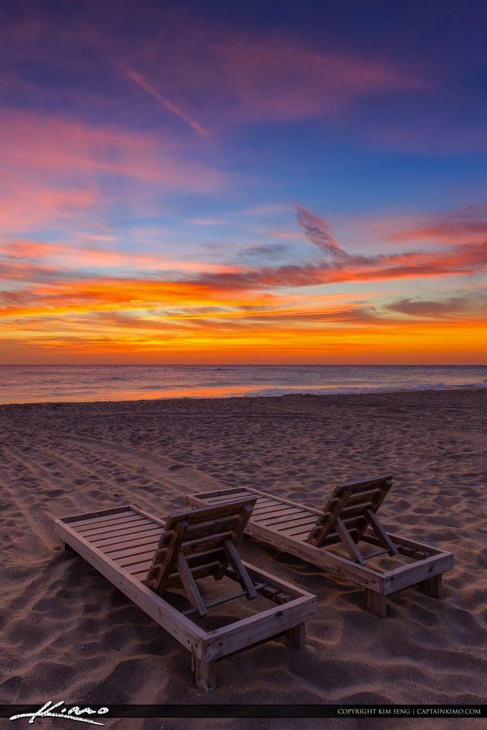 Beach Chair Sunrise South Florida on Singer Island