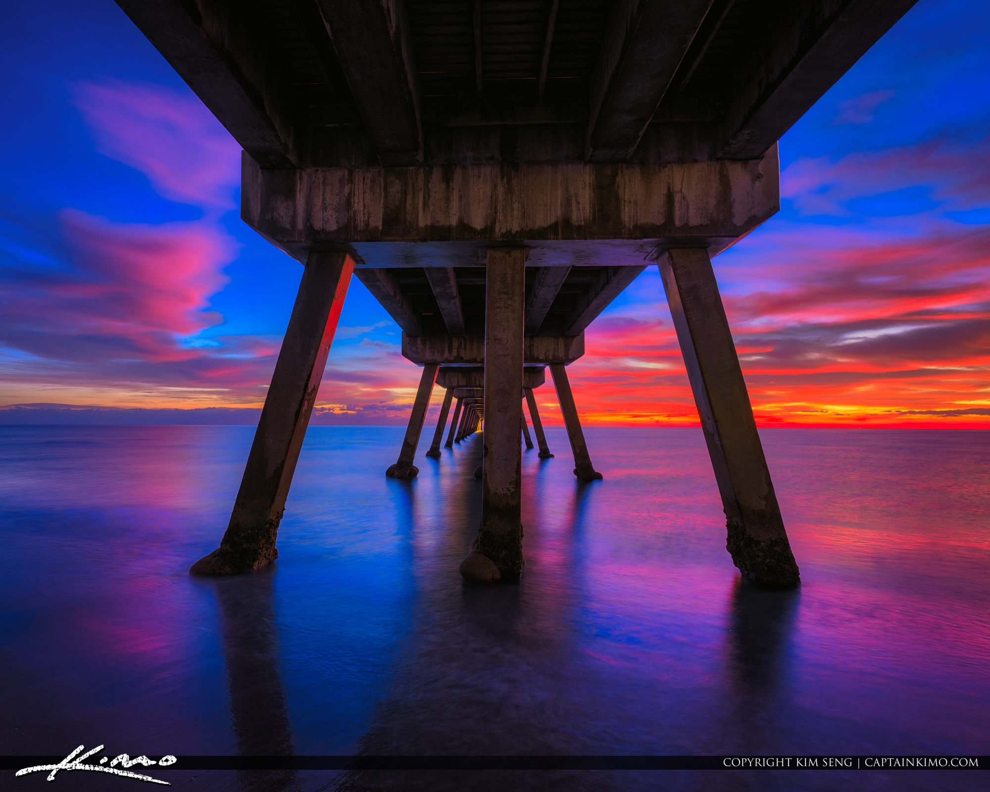 Deerfield Beach International Fishing Pier Underneath the Pier