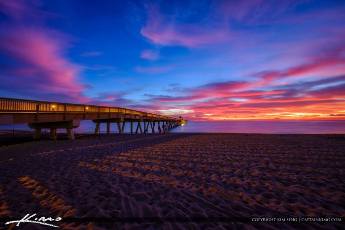 Deerfield Beach International Fishing Pier Before the Sunrise
