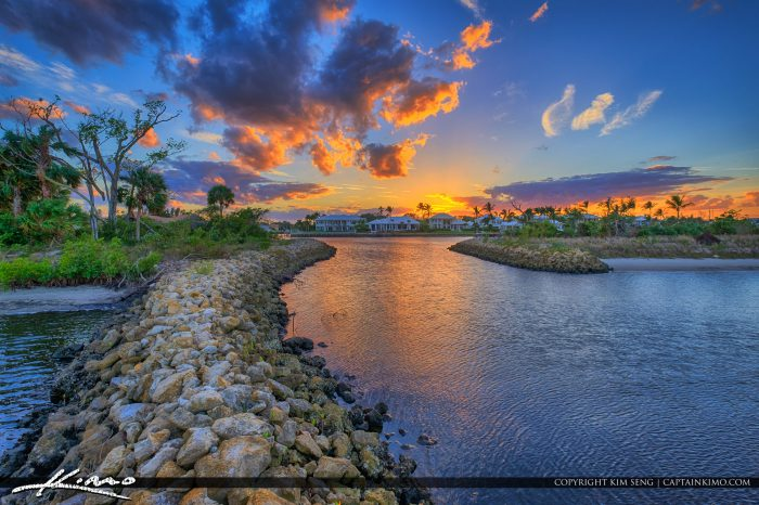 Waterway at the Juno Beach Natural Area in Juno Beach Florida