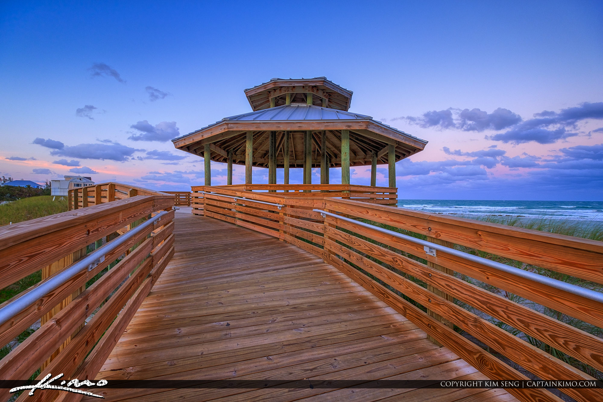 Gazebo at Bathtub Reef Beach Stuart Florida