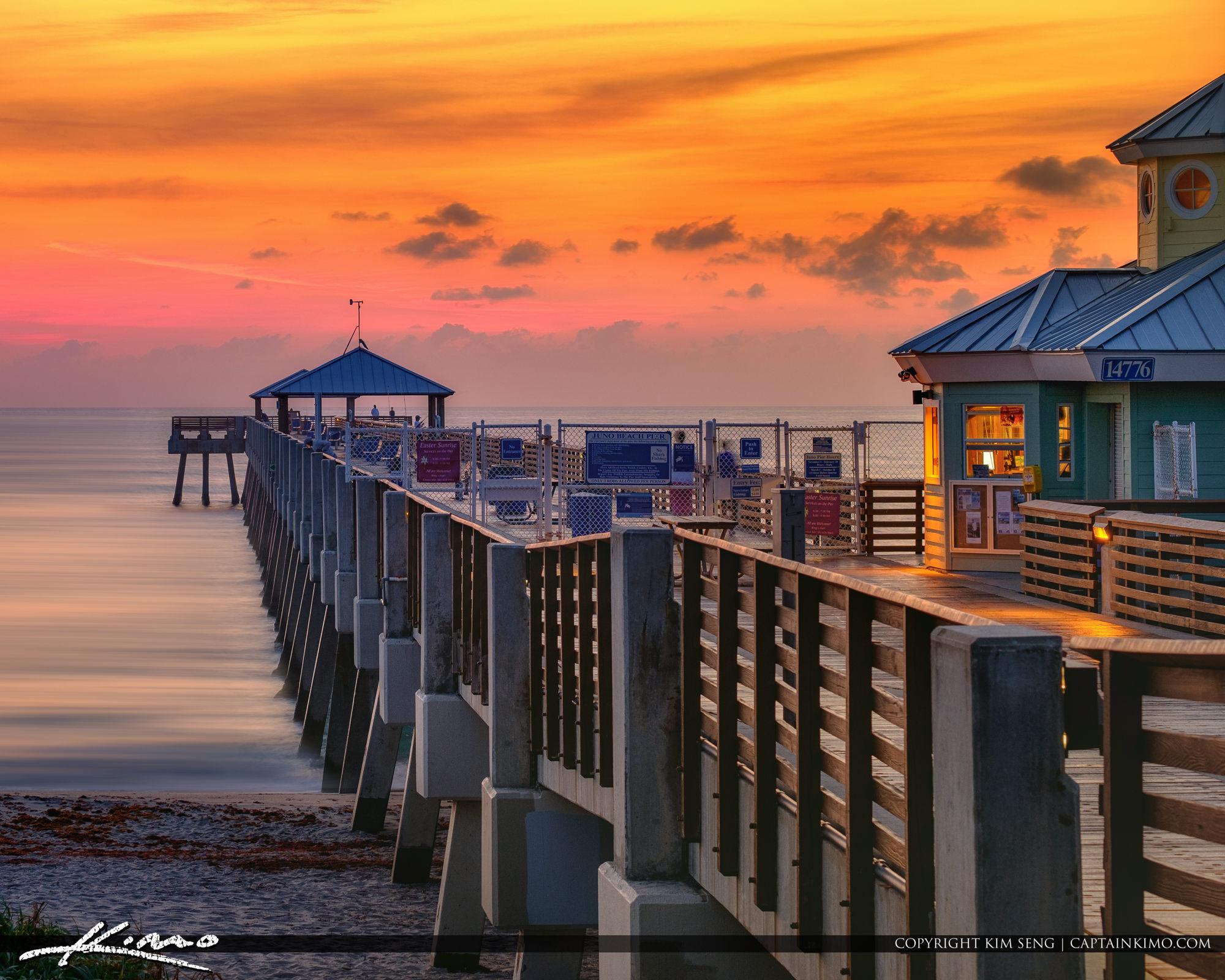 Juno Beach Pier Warm Sunrise South Florida