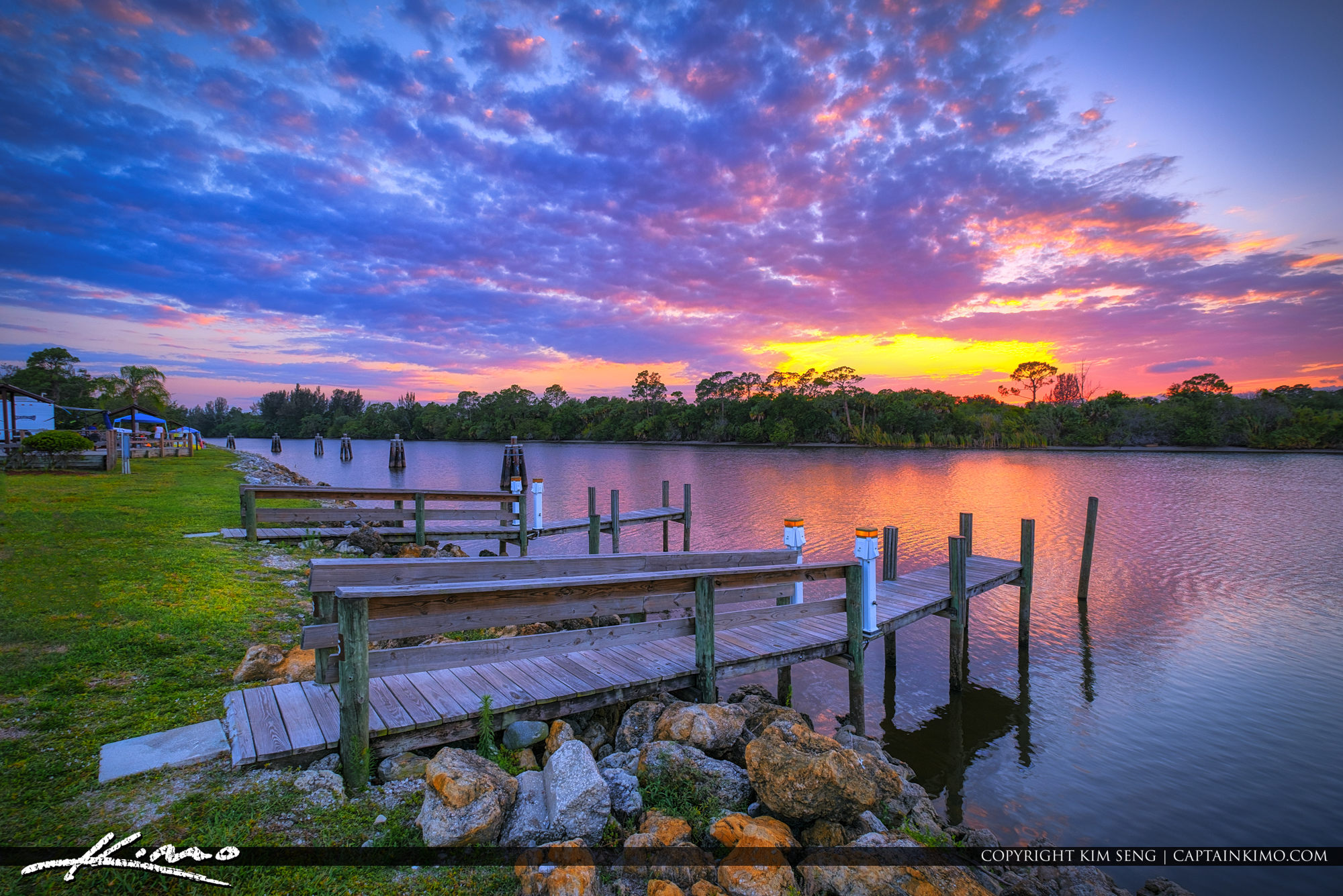 St Lucie Lock and Dam Sunset Boat Dock