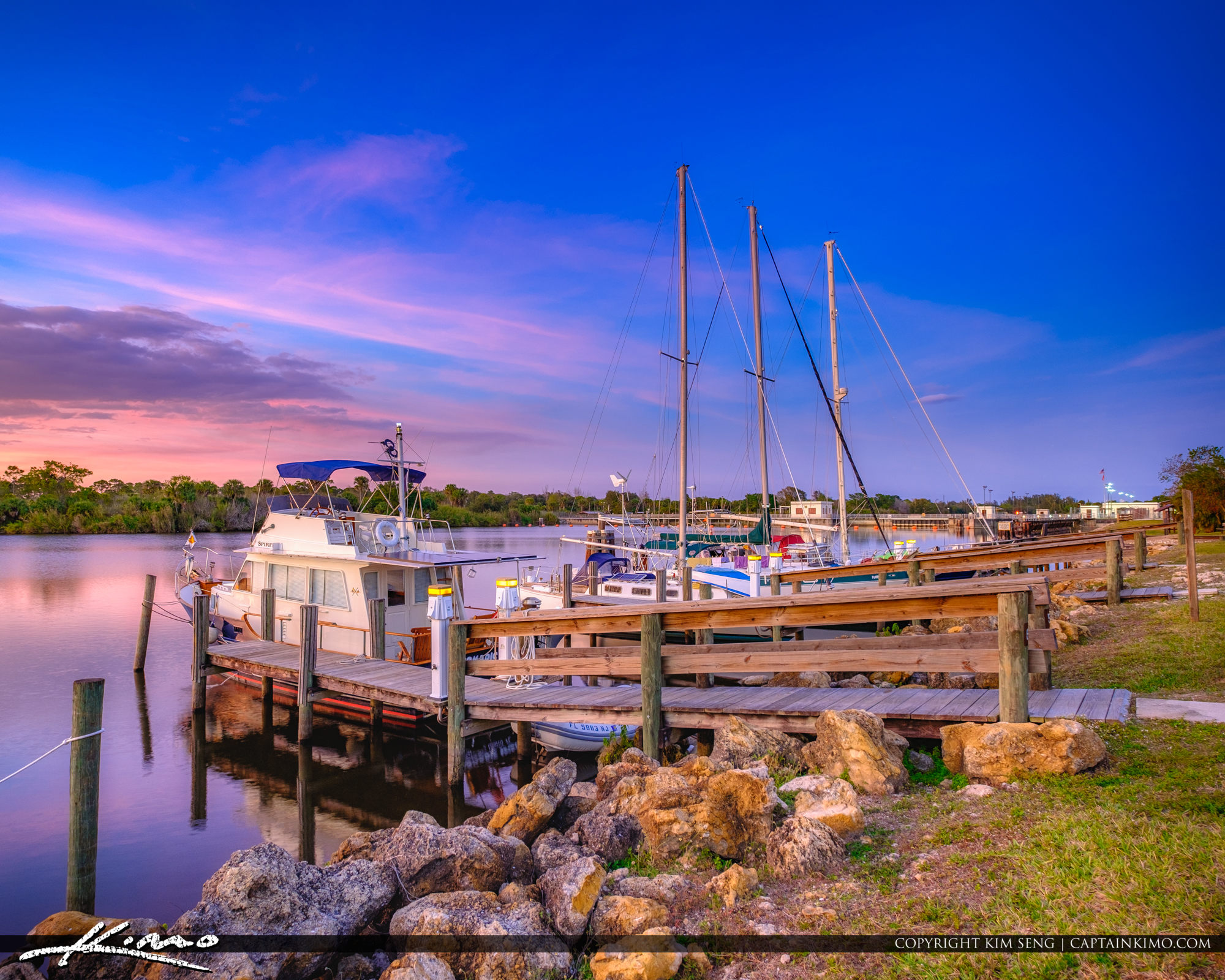 St Lucie South Lock and Dam Stuart Florida at Marina Camp Ground