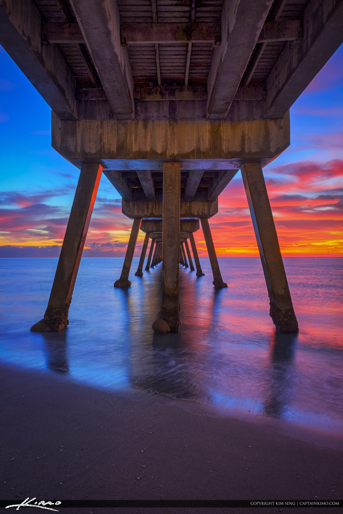 Deerfield Beach Vertical Sunrise Under Pier