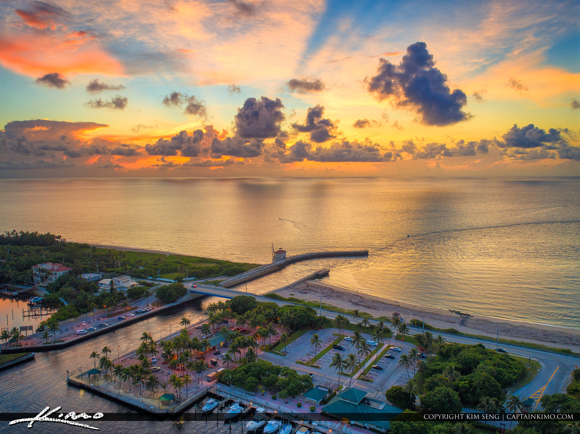 Boynton Beach Inlet Sunrise Aerial Photography Palm Beach County