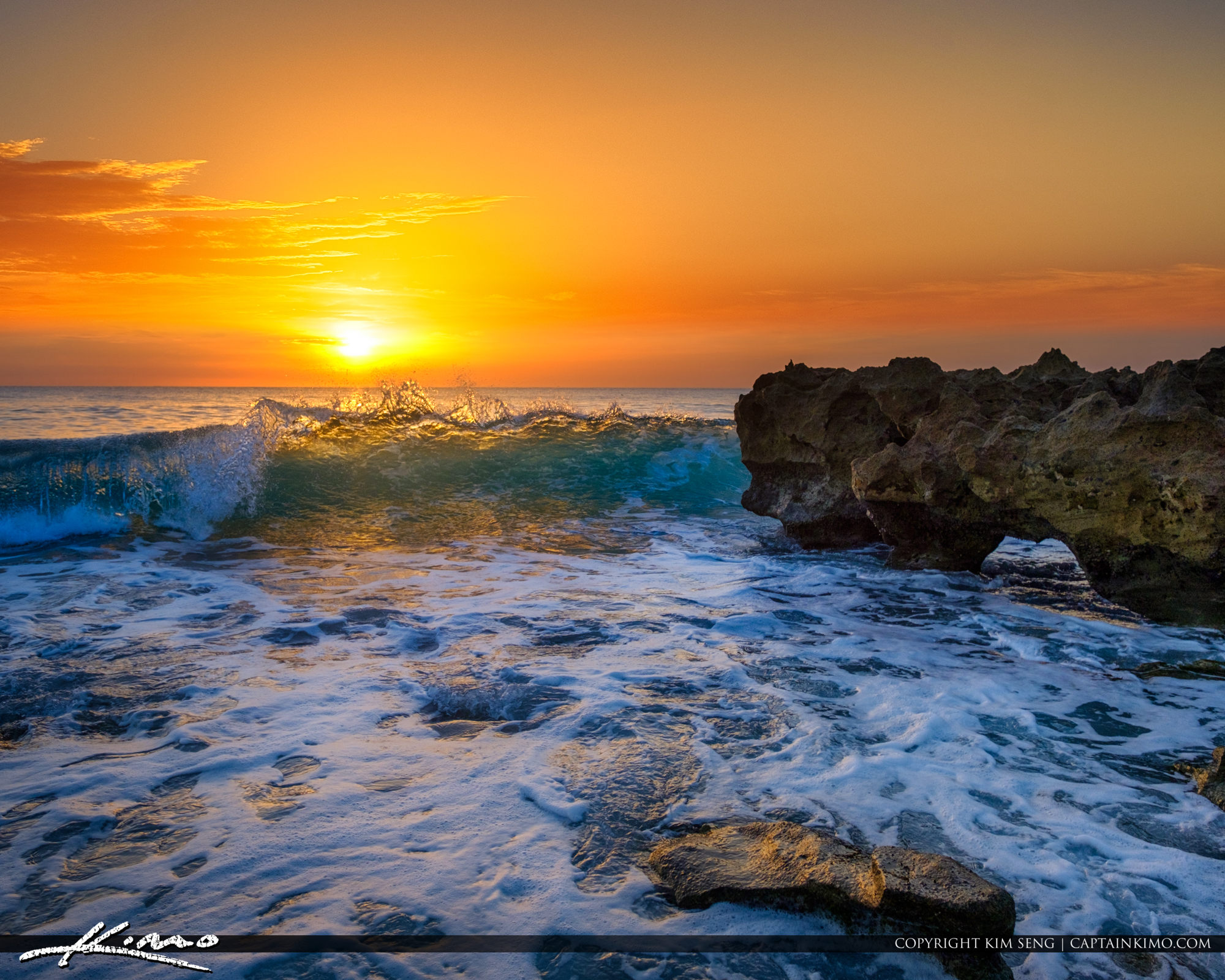 Coral Cove Park Sunrise Jupiter Island Ocean Wave