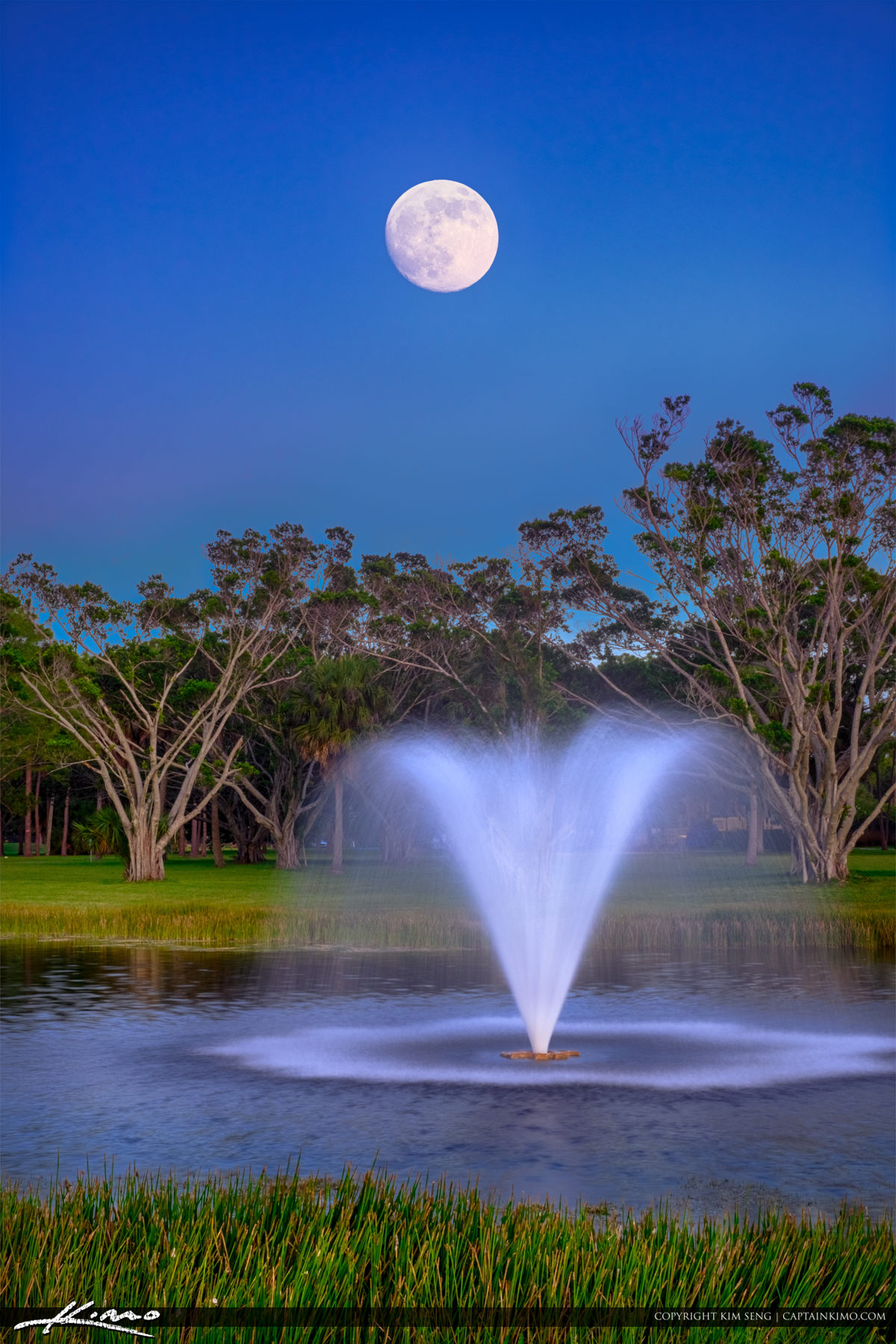 Moon rising over pga national park palm beach gardens for Pga national palm beach gardens