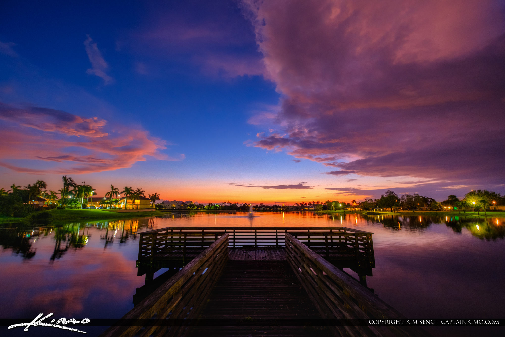 Lakeside Challenger Park Royal Palm Beach Sunset