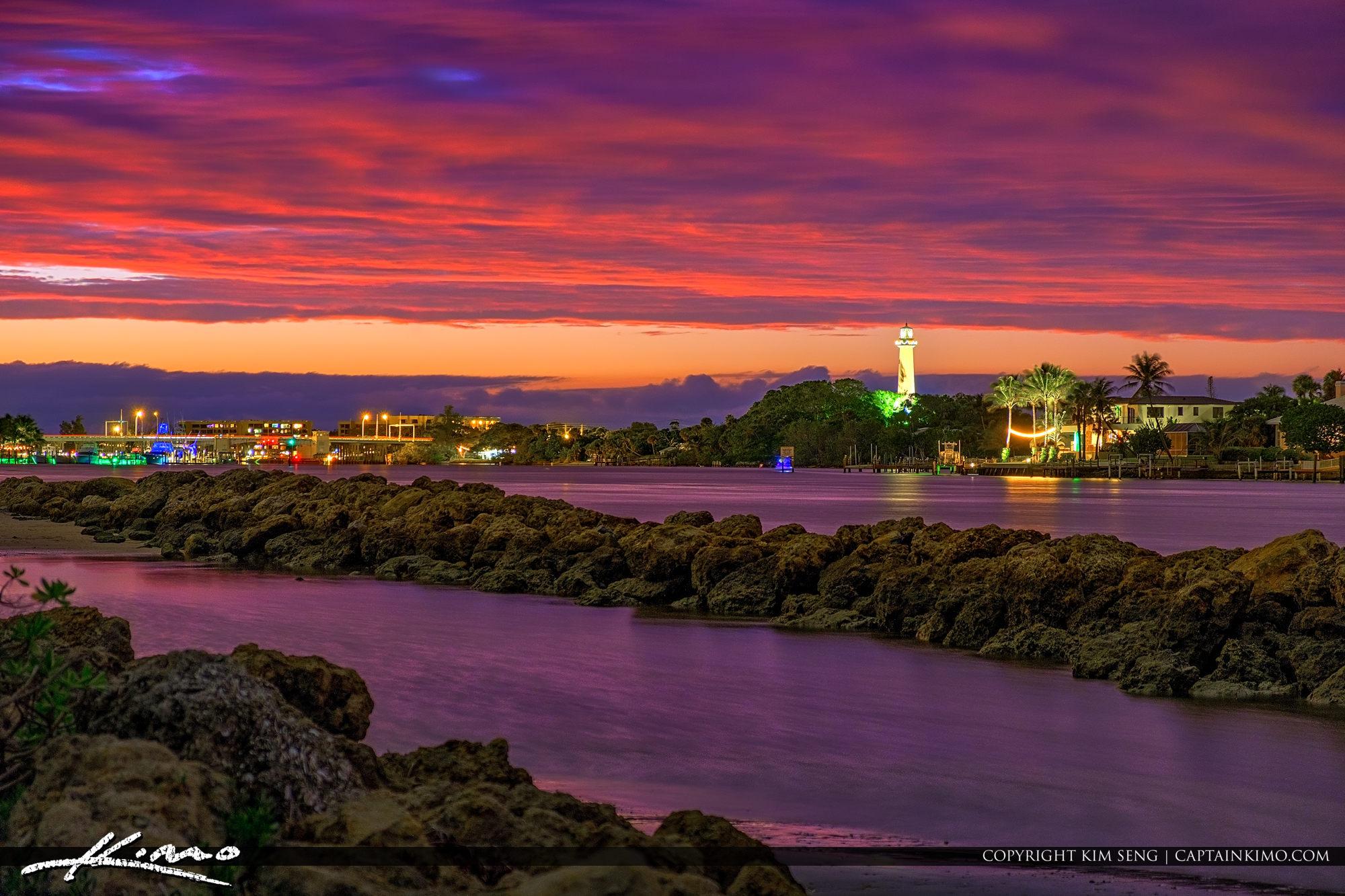 Jupiter Inlet Lighthouse Photo Beautiful Sky Colors