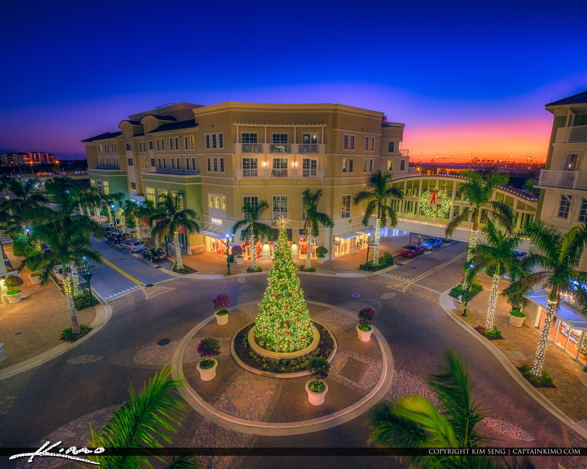 Harbourside Place Christmas Tree Jupiter Florida 2017 Square