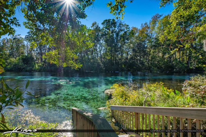 Weeki Wachee Springs State Park Blue Sping Waters Wooden Stairs