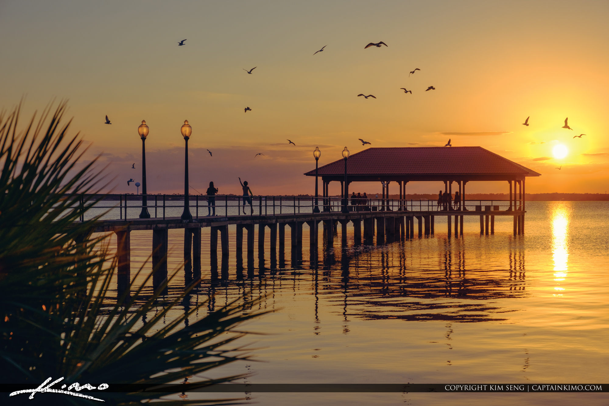 Lake Jackson Fishing Pier Sunset Sebring Florida