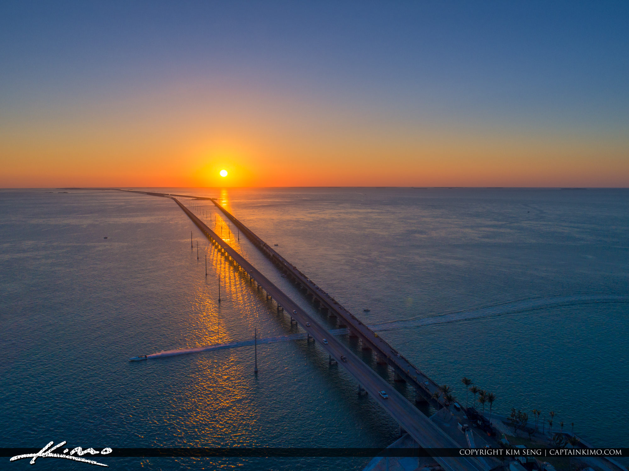 Seven Mile Bridge to Key West Florida from Marathon