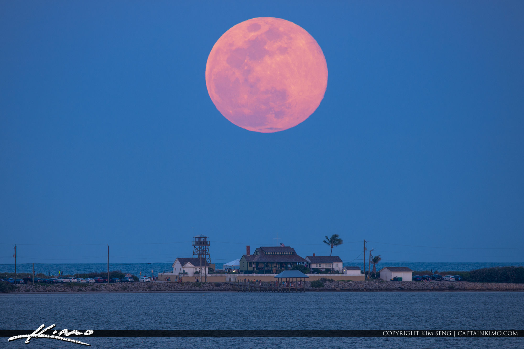 Full Pink Moon House of Refuge Hutchinson Island Florida