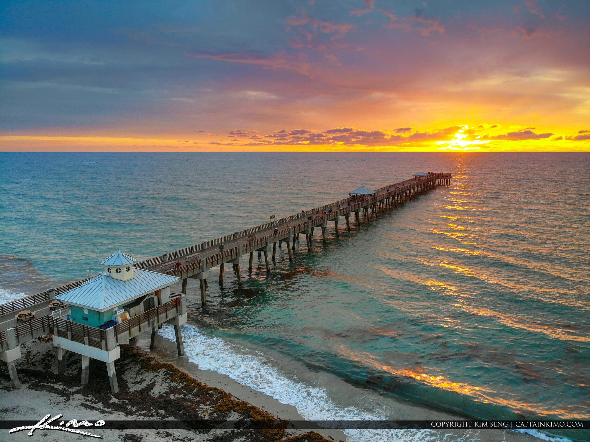 Mavic Air Aerial HDR Photography Juno Beach Pier