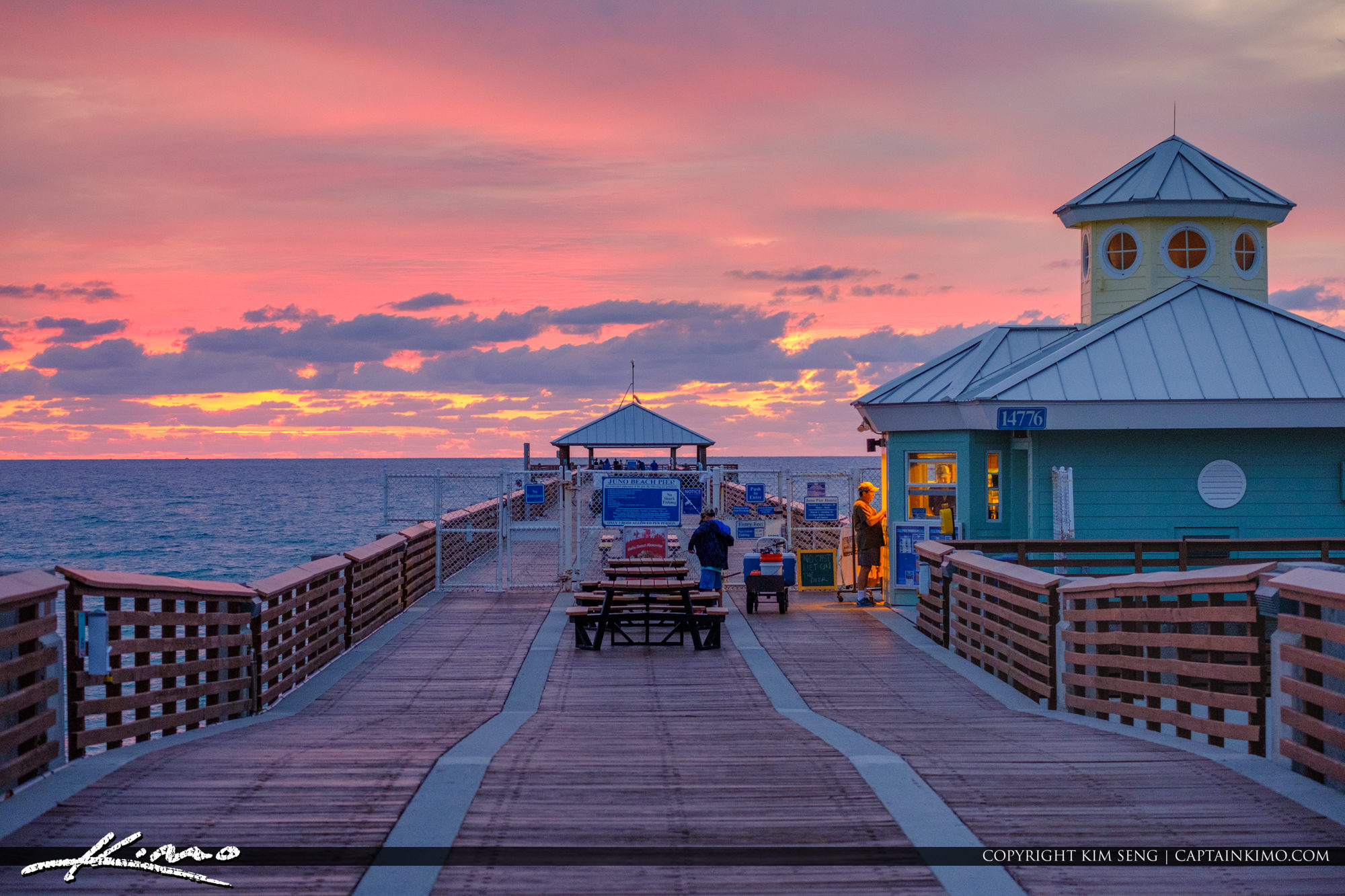 Juno Beach Pier Morning Colors Atlantic Ocean