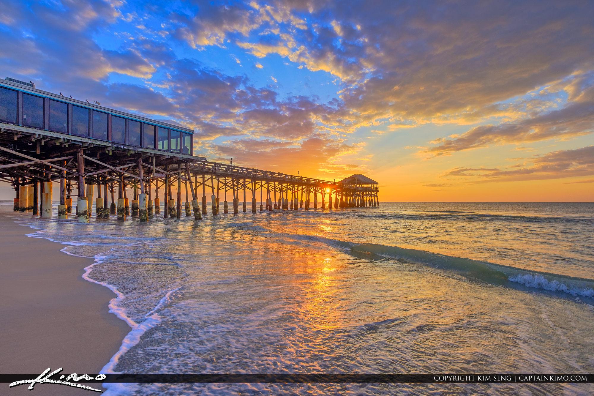Cocoa Beach Pier >> Cocoa Beach Pier Cocoa Beach Florida Sunrise Hdr Photography
