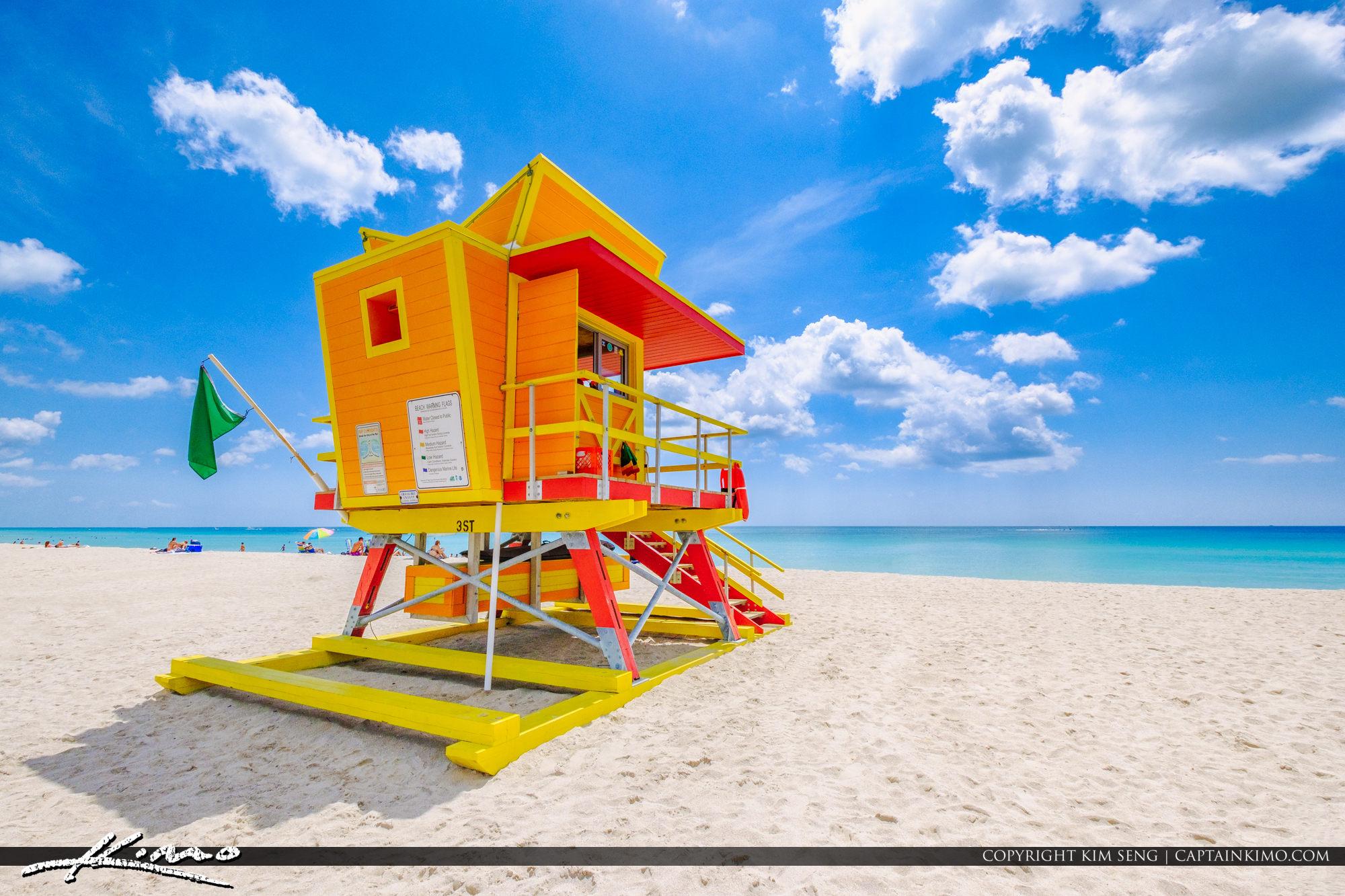 38378da441c Yellow Orange Lifeguard Tower South Beach Miami Florida