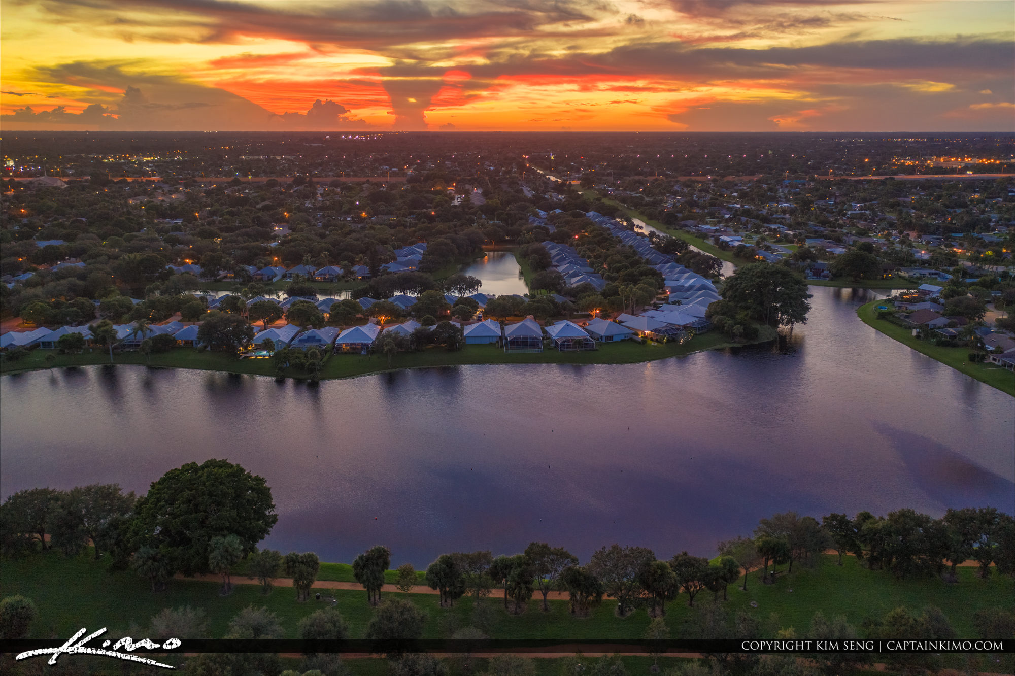 Palm Beach Gardens Neigherhood Sunset Homes Waterfront Property