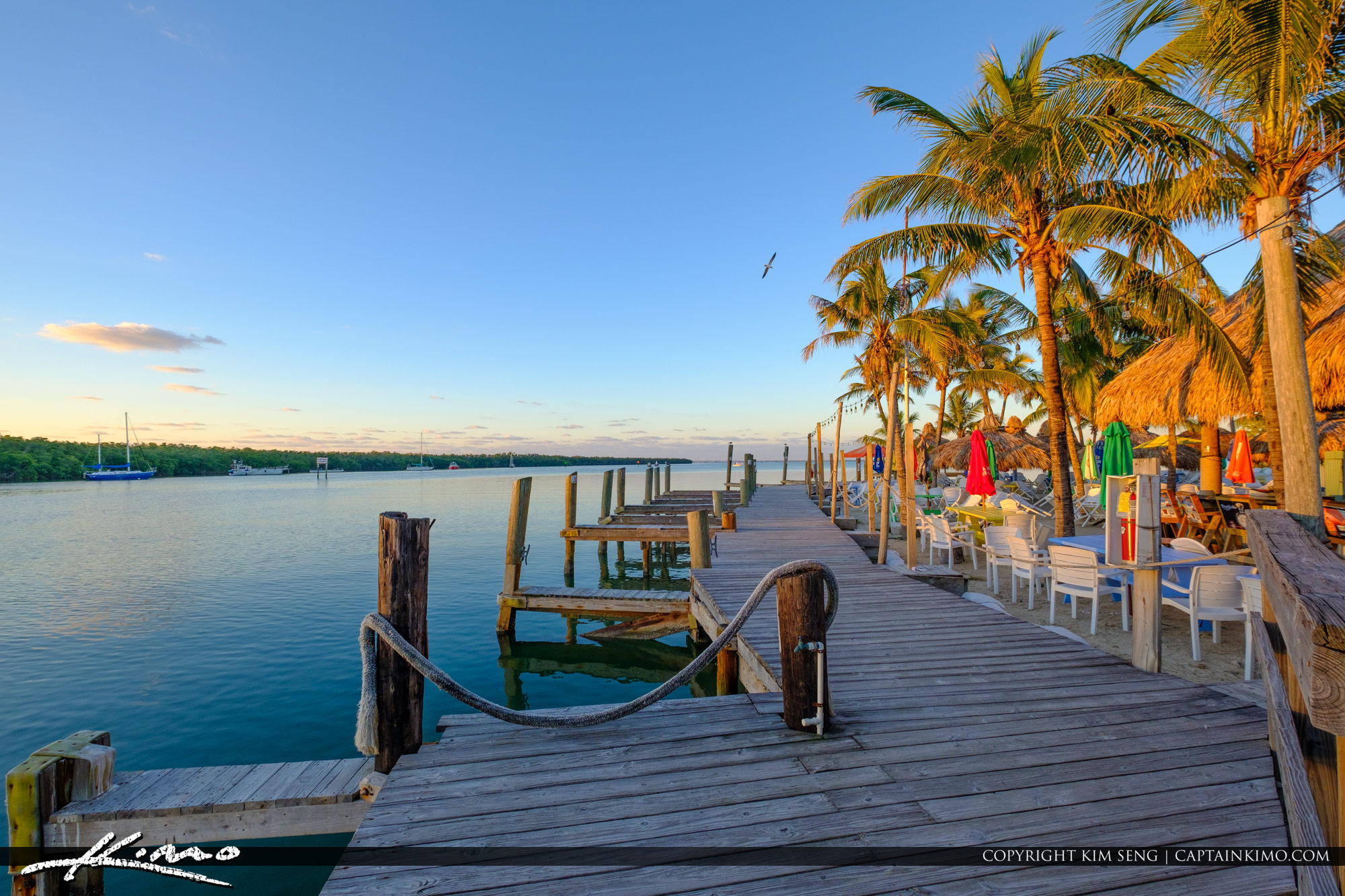 Boat Dock at Gilberts Resort Key Largo Florida Keys