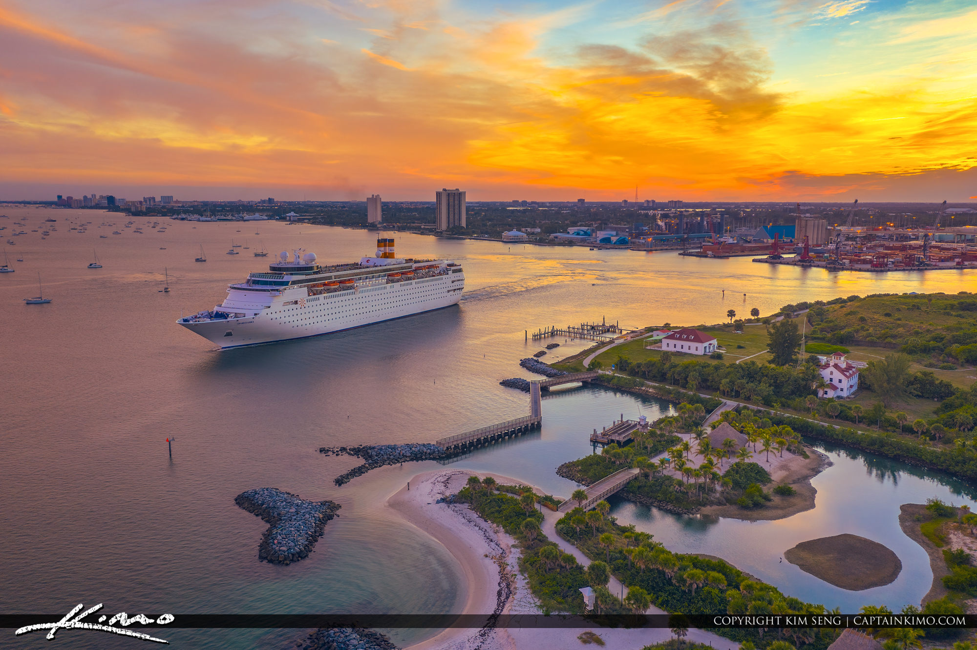 Grand Classica Sunset Colors Over Peanut Island at Port of Palm