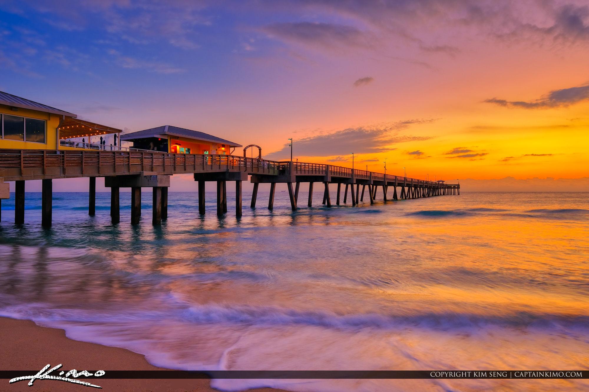 Dania Beach Fishing Pier Glow January 16 2019