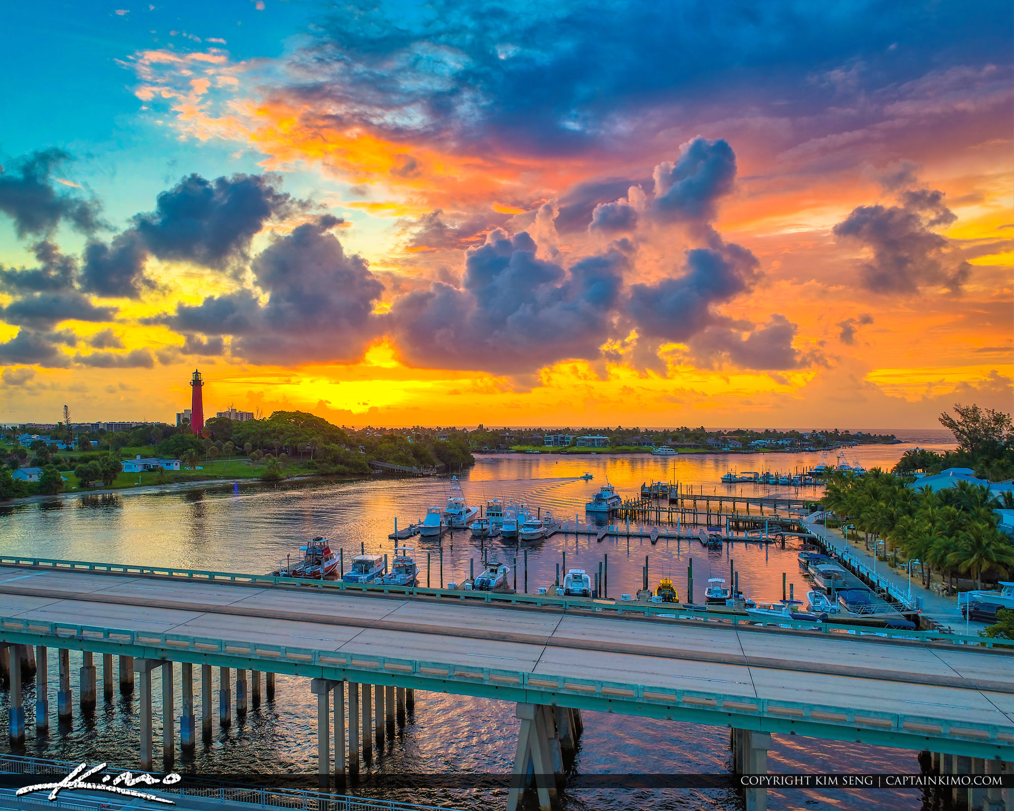 Sunrise Along the Waterway Jupiter Inlet Lighthouse