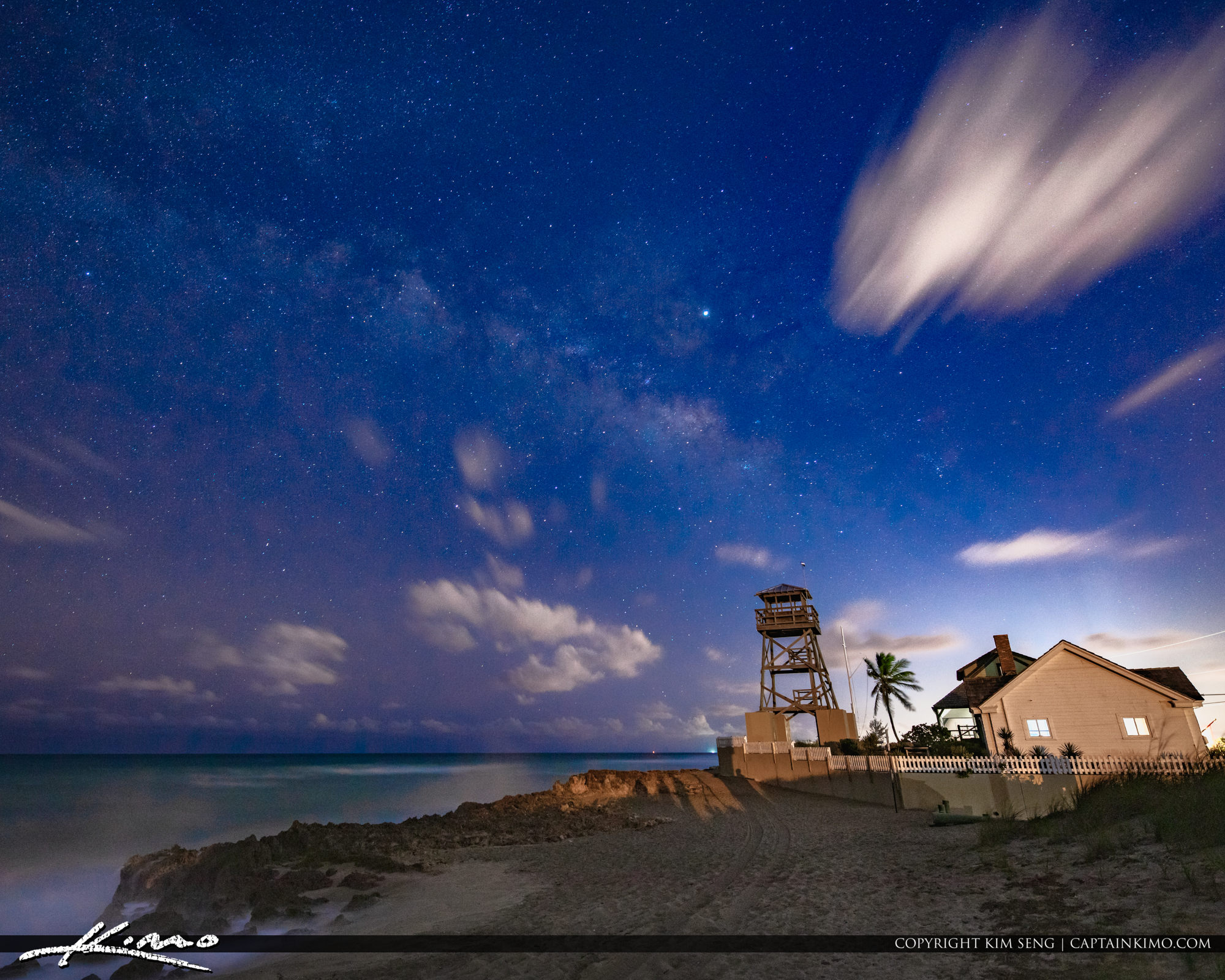 Milkyway Over the House of Refuge in Stuart Florida