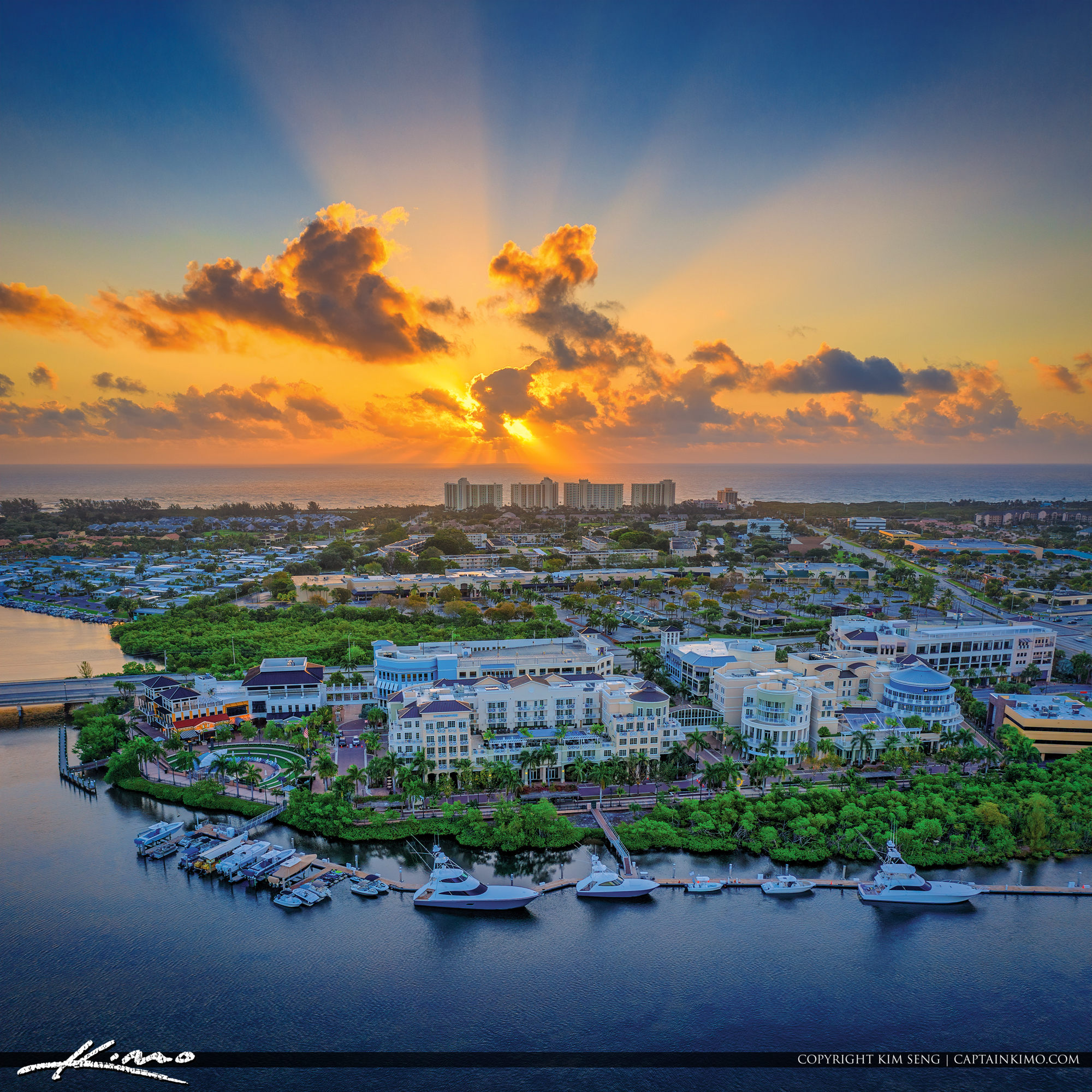 Jupiter Florida Sunrise Atlantic Ocean View Harbourside Place