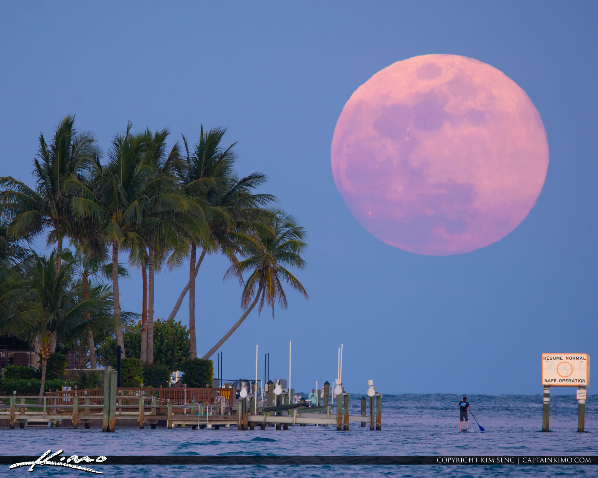 Jupiter Inlet Florida Full Moonrise May 2019