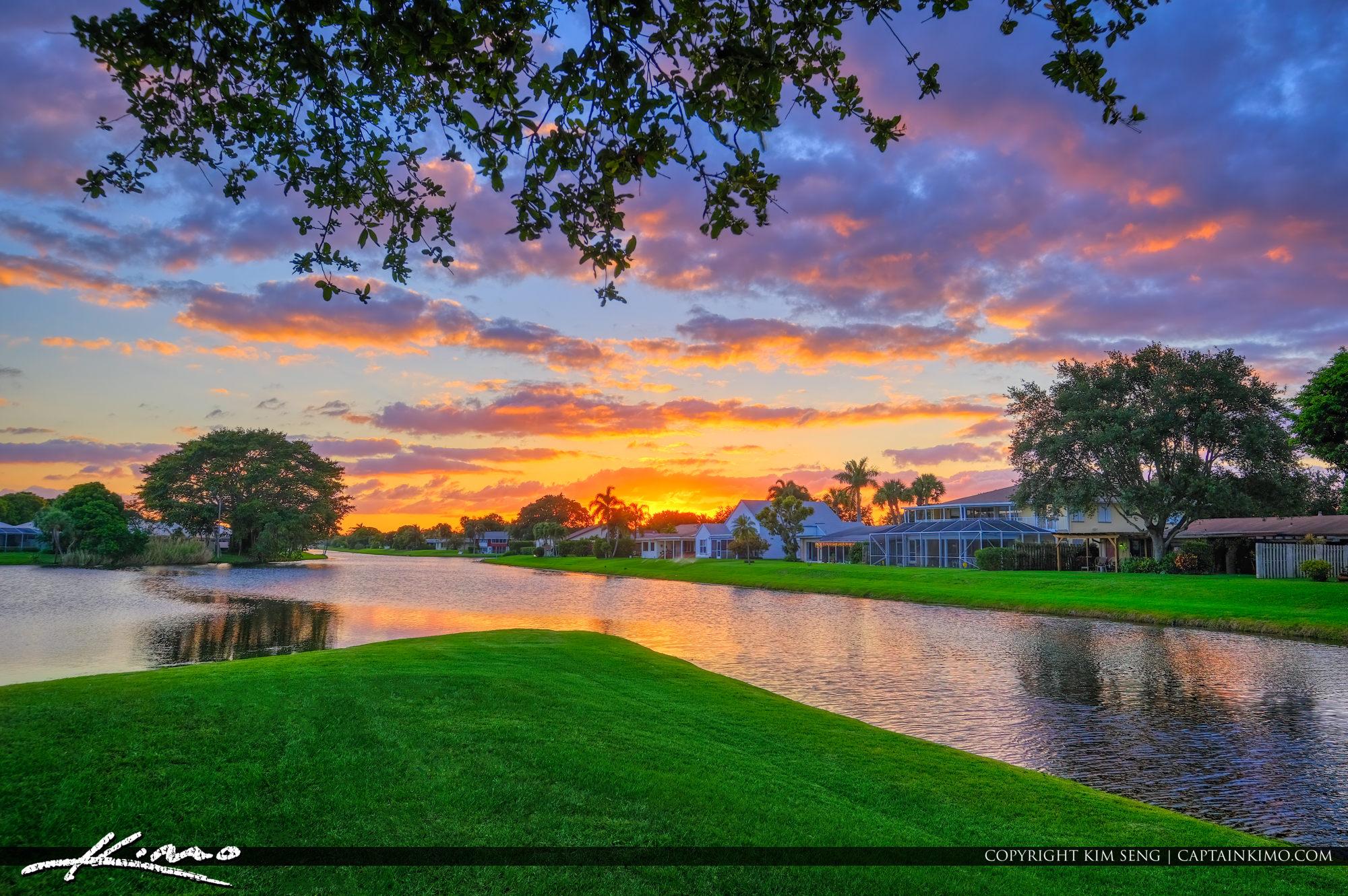 Palm Beach County Florida Neighborhood Sunset