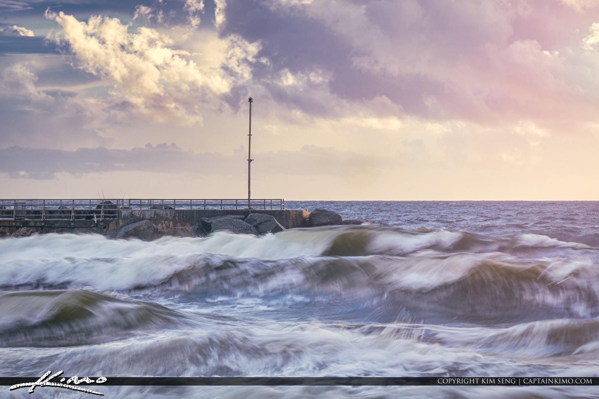 Waves Before the Hurricane Jupiter Inlet Florida