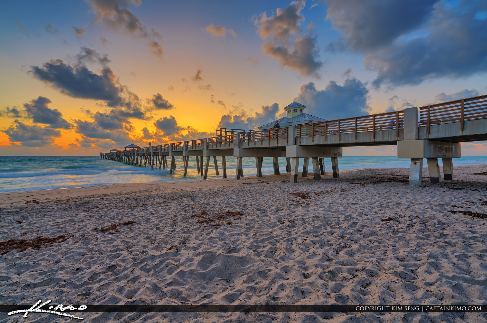 Juno Beach Pier Sunrise Cool Morning