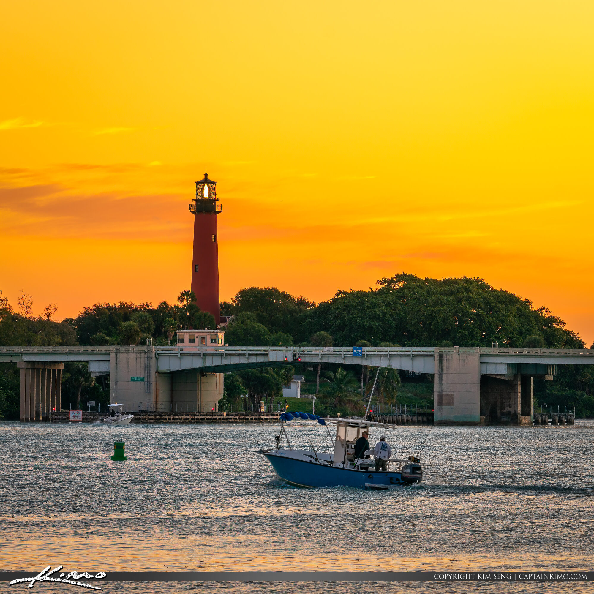 Jupiter Inlet Lighthouse Sunday Morning Fishing