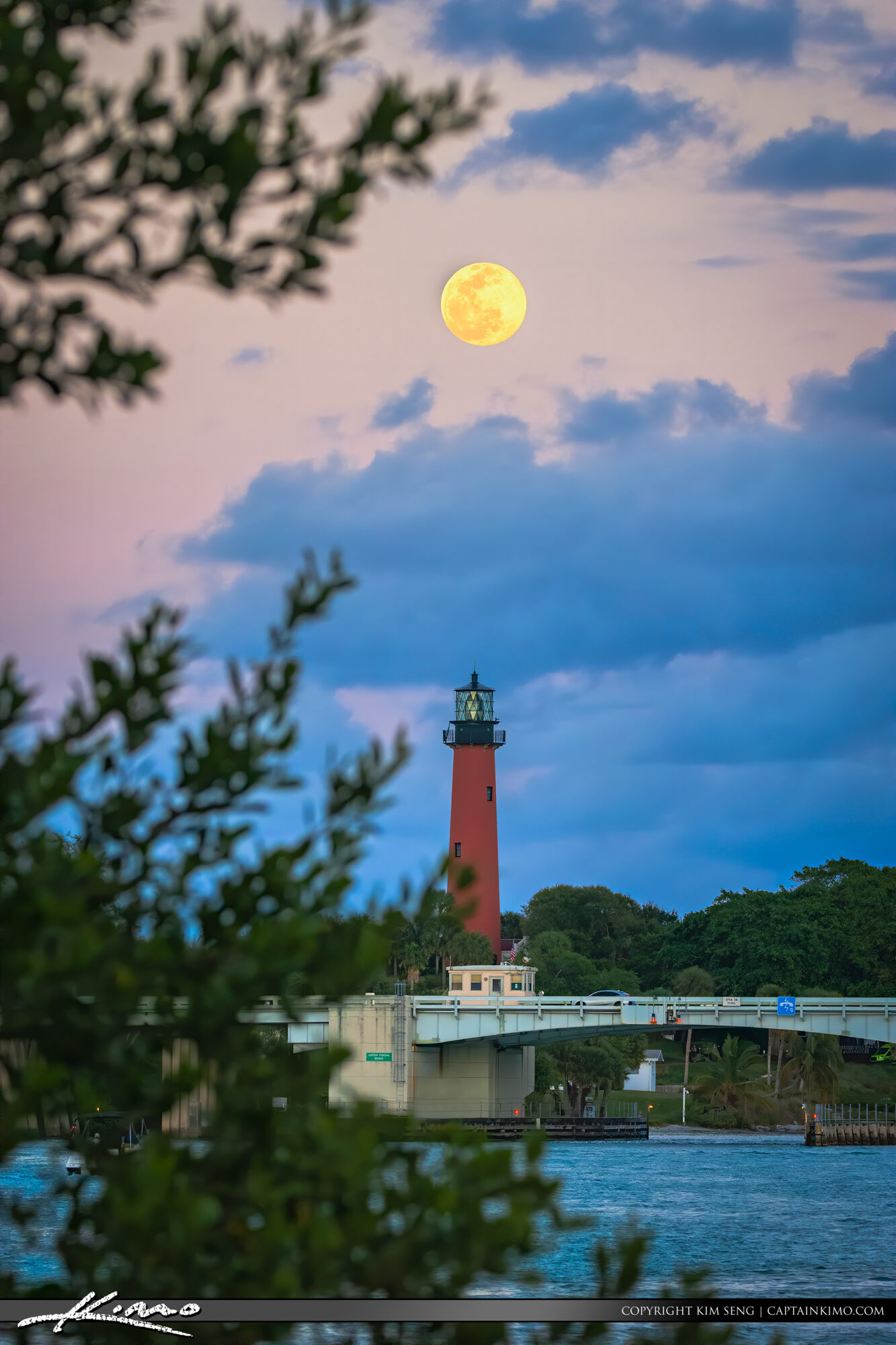 Jupiter Lighthouse Fullmoon February 2020