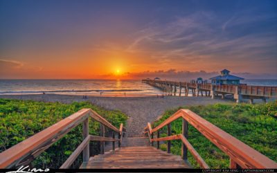 Juno Beach Pier Sunrise Down Stairs