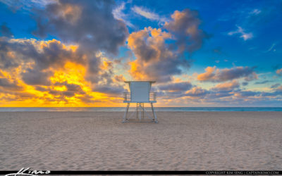 Singer Island Beach Sunrise Lifeguard Tower at Beach