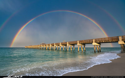 Juno Beach Pier Rainbow June 19 2020