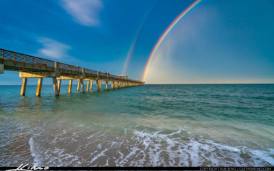 Juno Beach Pier the End of the Rainbow