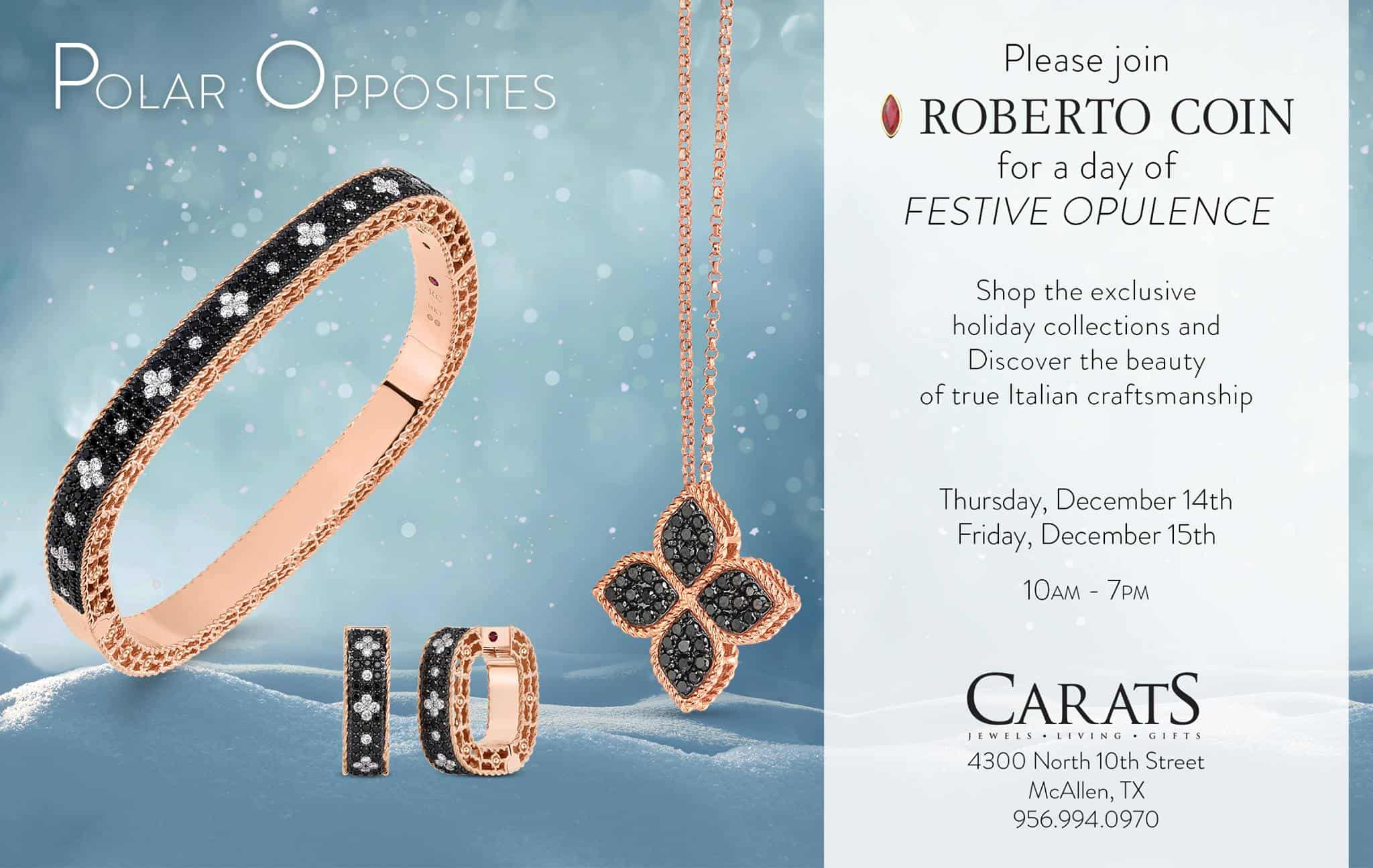 Roberto Coin Holiday Trunk Show at Carats