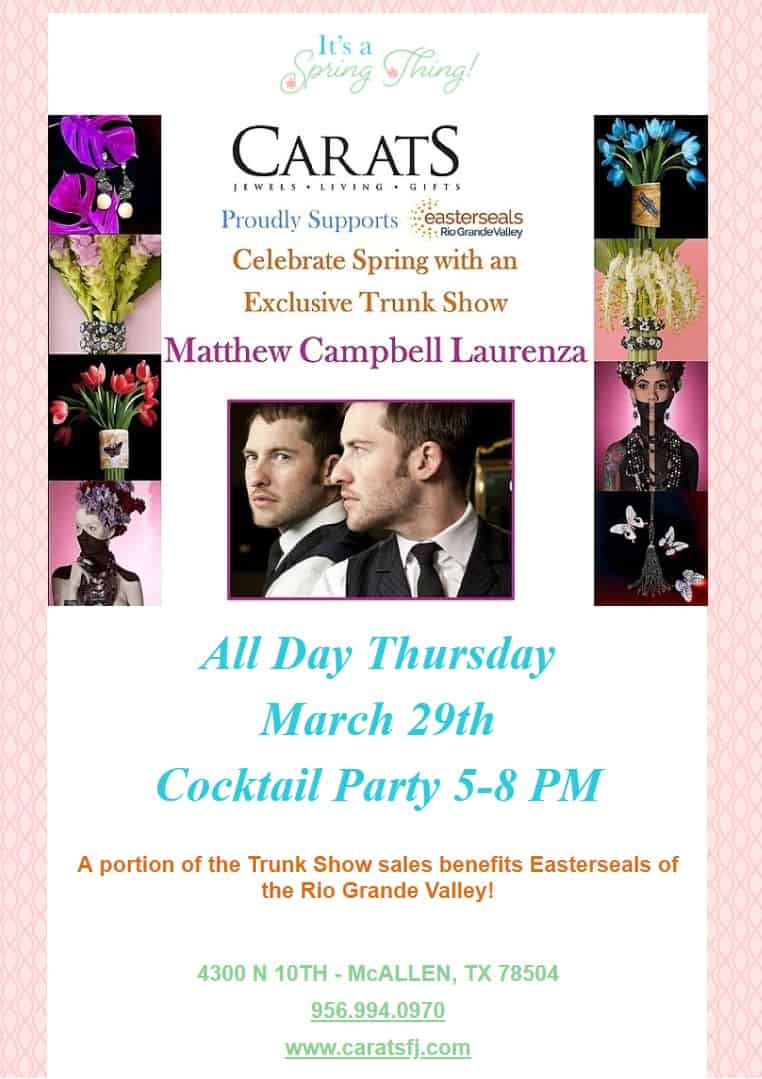 Matthew Campbell Laurenza Trunk show at Carats