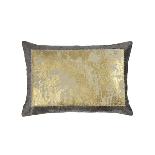 14x20 Distressed Metallic Lace Pillow