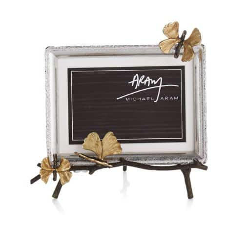 Butterfly Ginkgo Easel Picture Frame - Butterfly Ginkgo - Carats Jewelry and Gifts