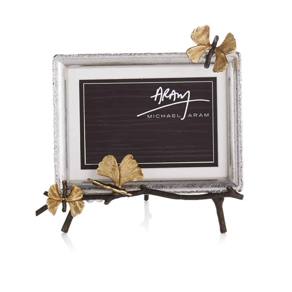 Butterfly Ginkgo Easel Picture Frame - Carats Jewelry and Gifts