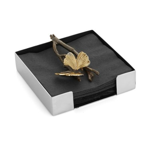 Butterfly Ginkgo Cocktail Napkin Holder - Carats Jewelry and Gifts