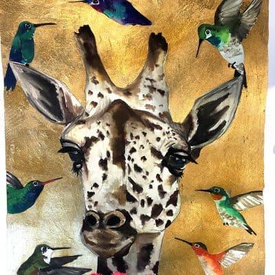 Festooned Giraffe (16*20 Print)