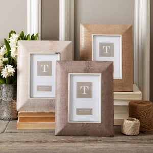 "4""x6"" Suede Photo Frame"
